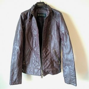 Guess Los Angeles Brown Faux Leather Small